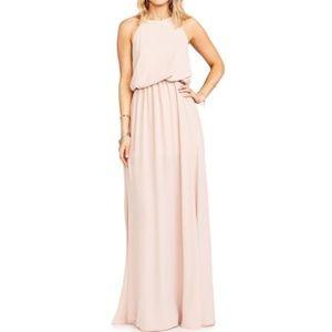Show Me Your Mumu Pink Heather Chiffon Halter Gown